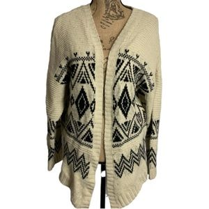 Windsor Cream Black geometric cardigan
